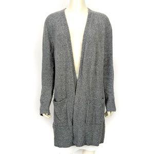 Madewell Gray Wool Blend Cardigan Sweater Medium